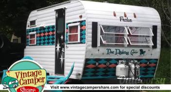 """1965 Frolic - """"The Flying Cow"""" Vintage Camper"""