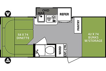 02018 R-Pod - BUNKS + Dinette  Surrey, BC