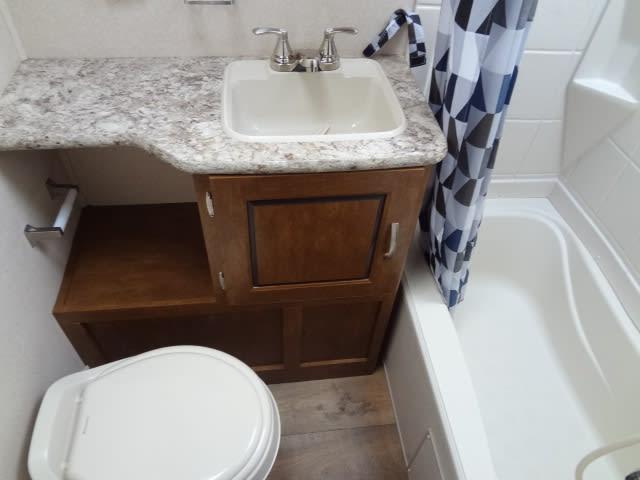 Bathroom . Forest River Salem 2016