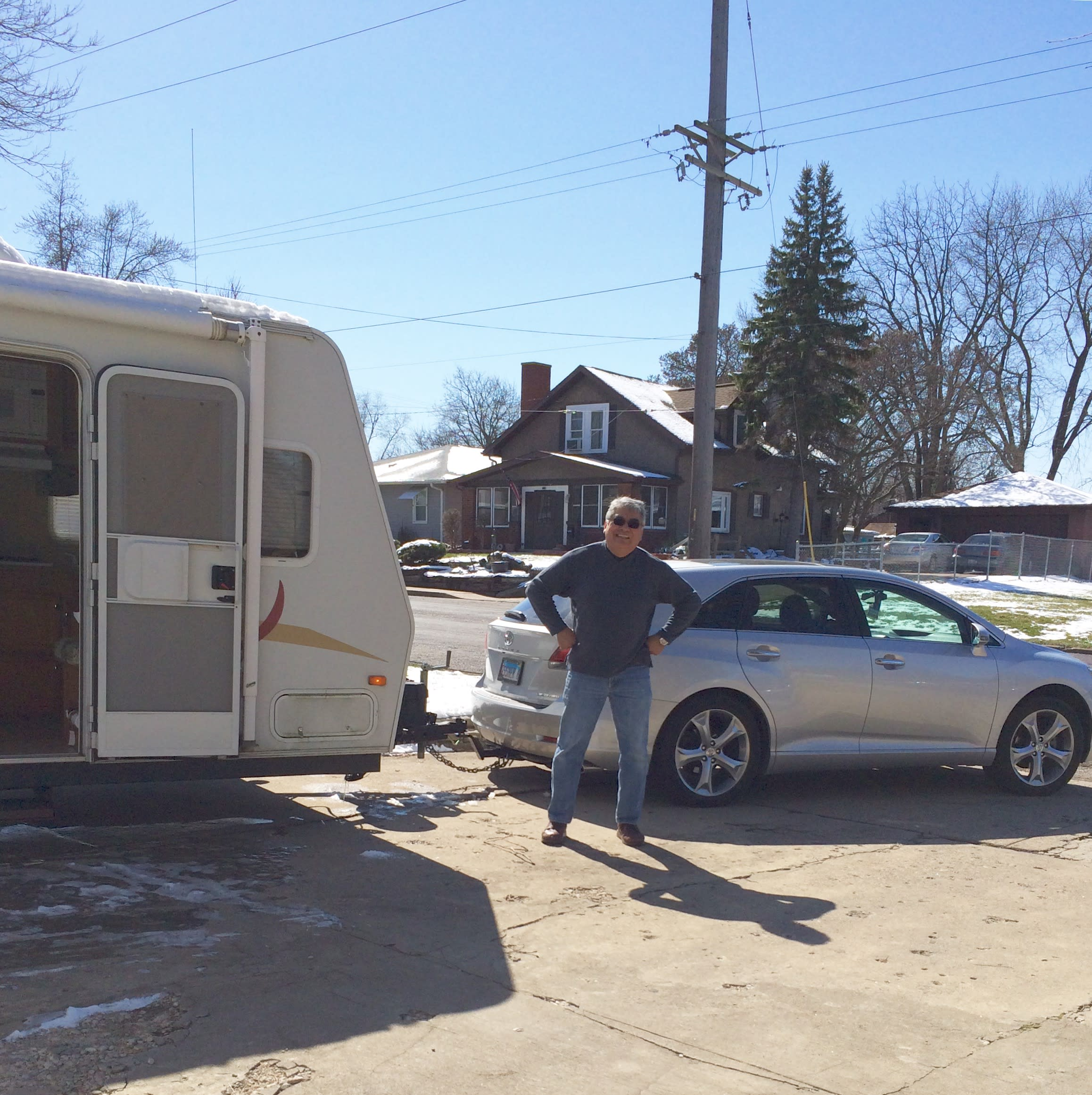 """We can even pull it with our Toyota Venza (but we have a truck, as well). It truly is a """"featherlight"""". . Jayco Jay Feather 2006"""