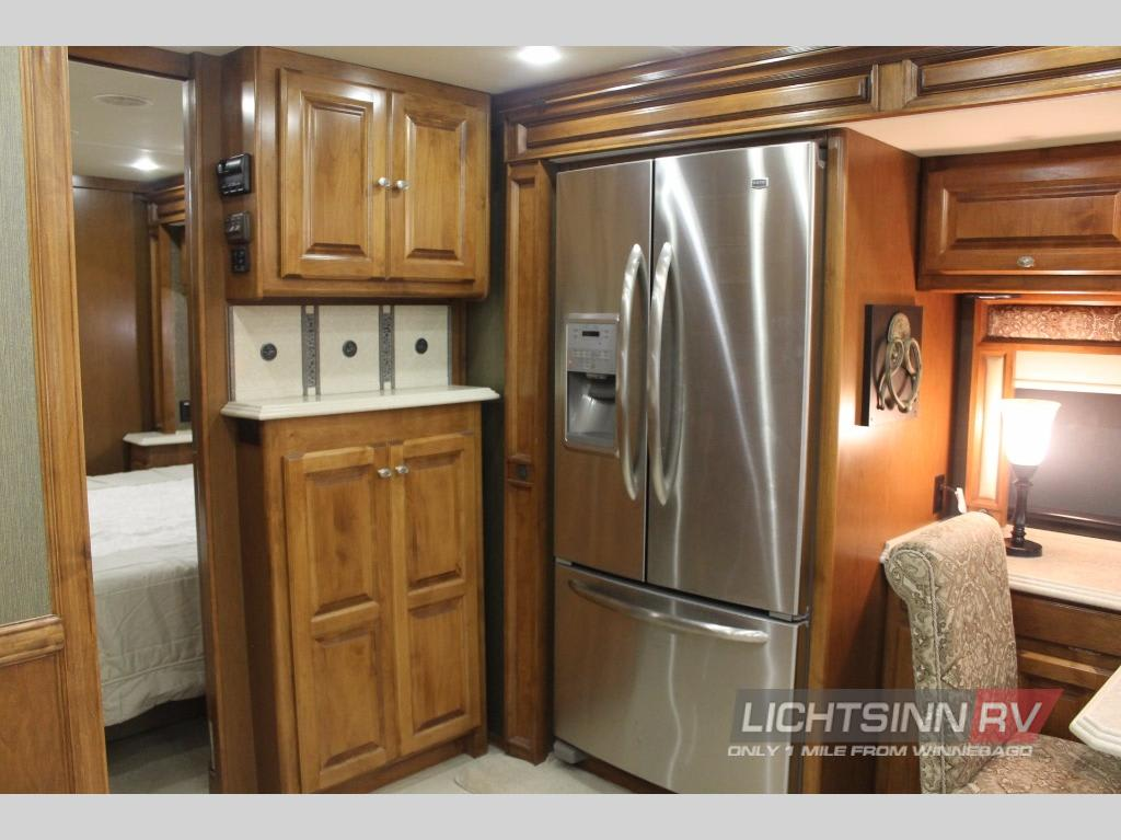 All the comforts of home with a full sized refrigerator and freezer. Tiffin Motorhomes Phaeton 2013
