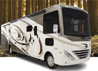 Two slide outs. Awning. Outside shower and TV. Thor Motor Coach Hurricane 35M 2017