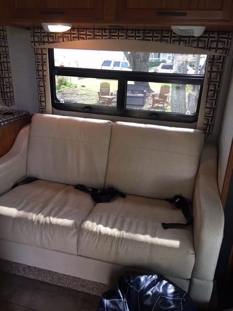 Sofa, Sleeps 2. Jayco Redhawk 2017