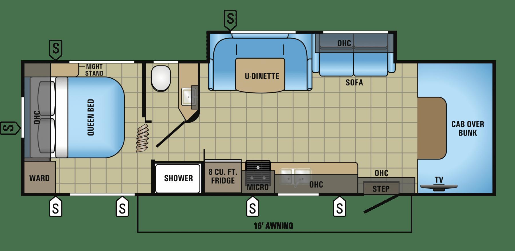 Floor plan layout. Jayco Redhawk 2017