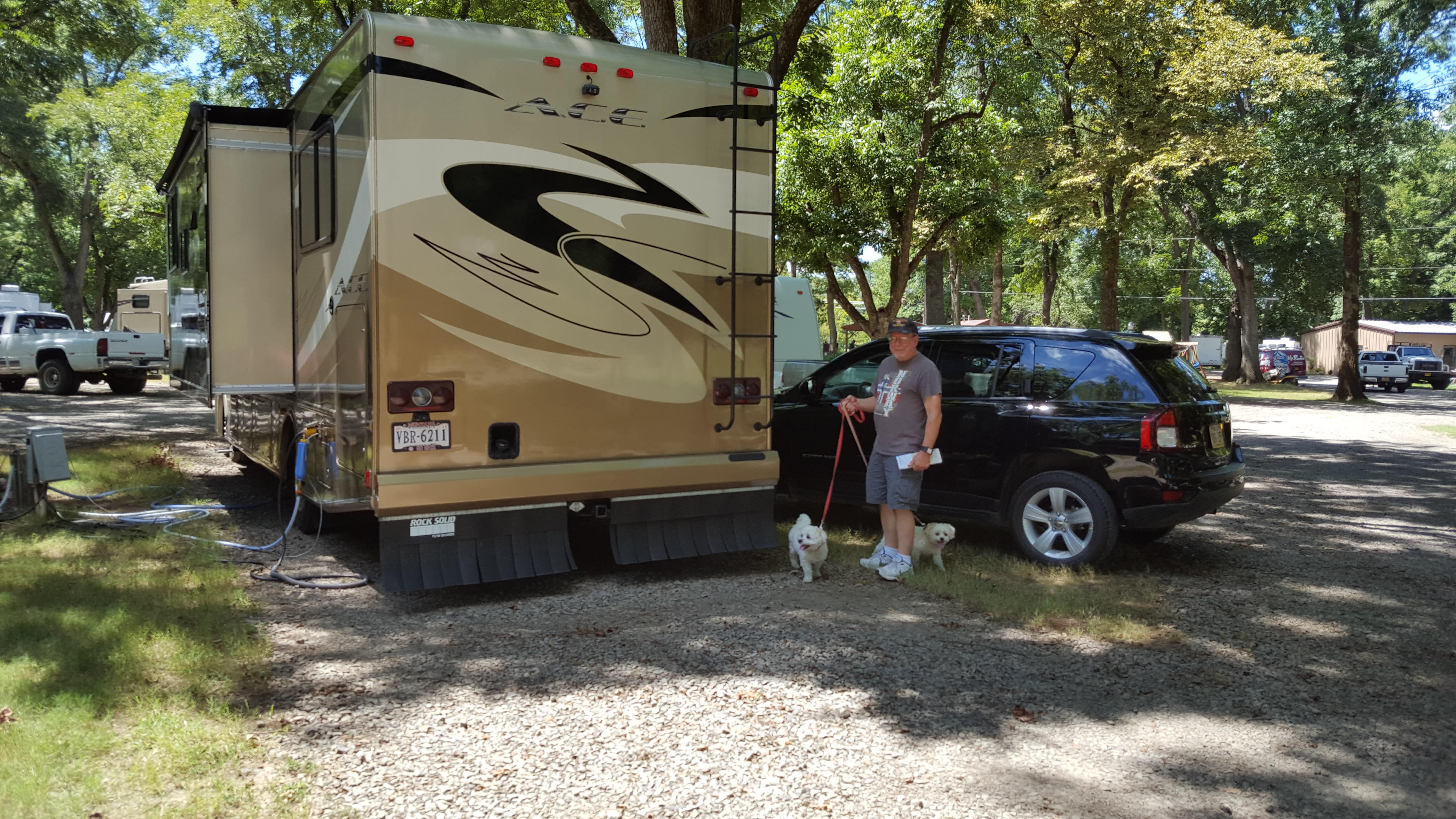 At a Camp Site. Thor Motor Coach A.C.E 2013