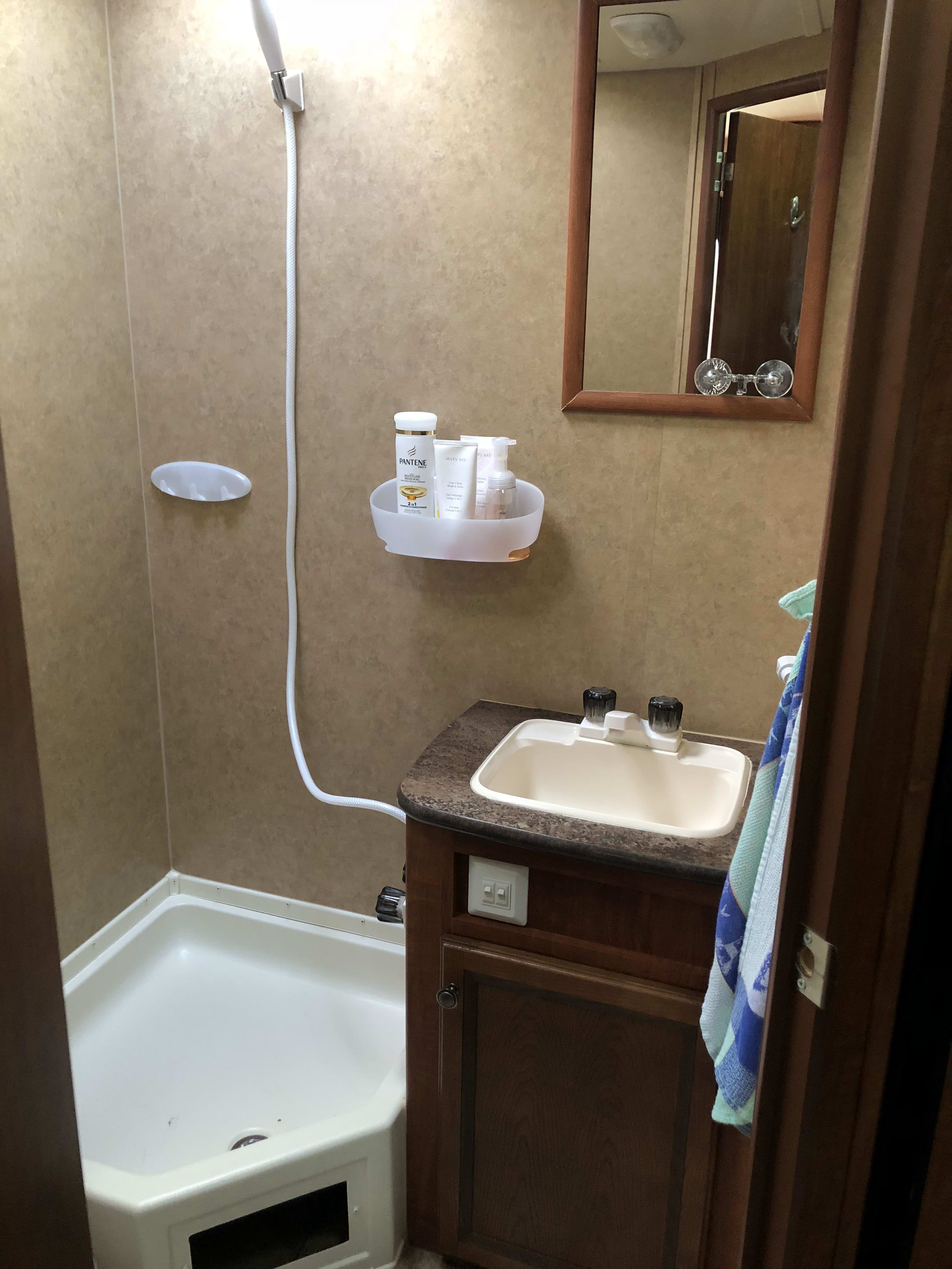 Bathroom sink.. Jayco Jay Feather Ultra Lite 2013