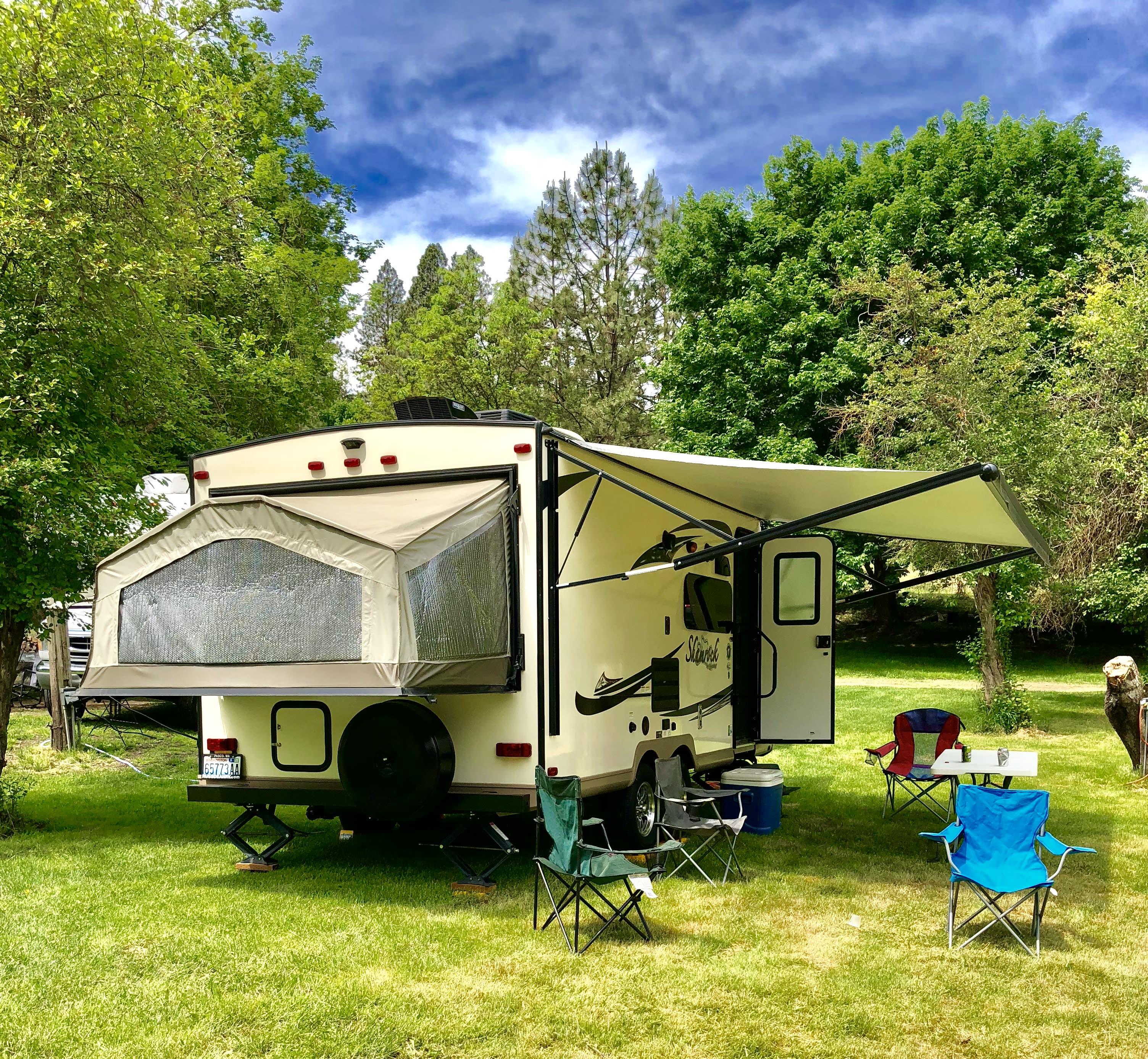 All set up. Forest River Shamrock 2016
