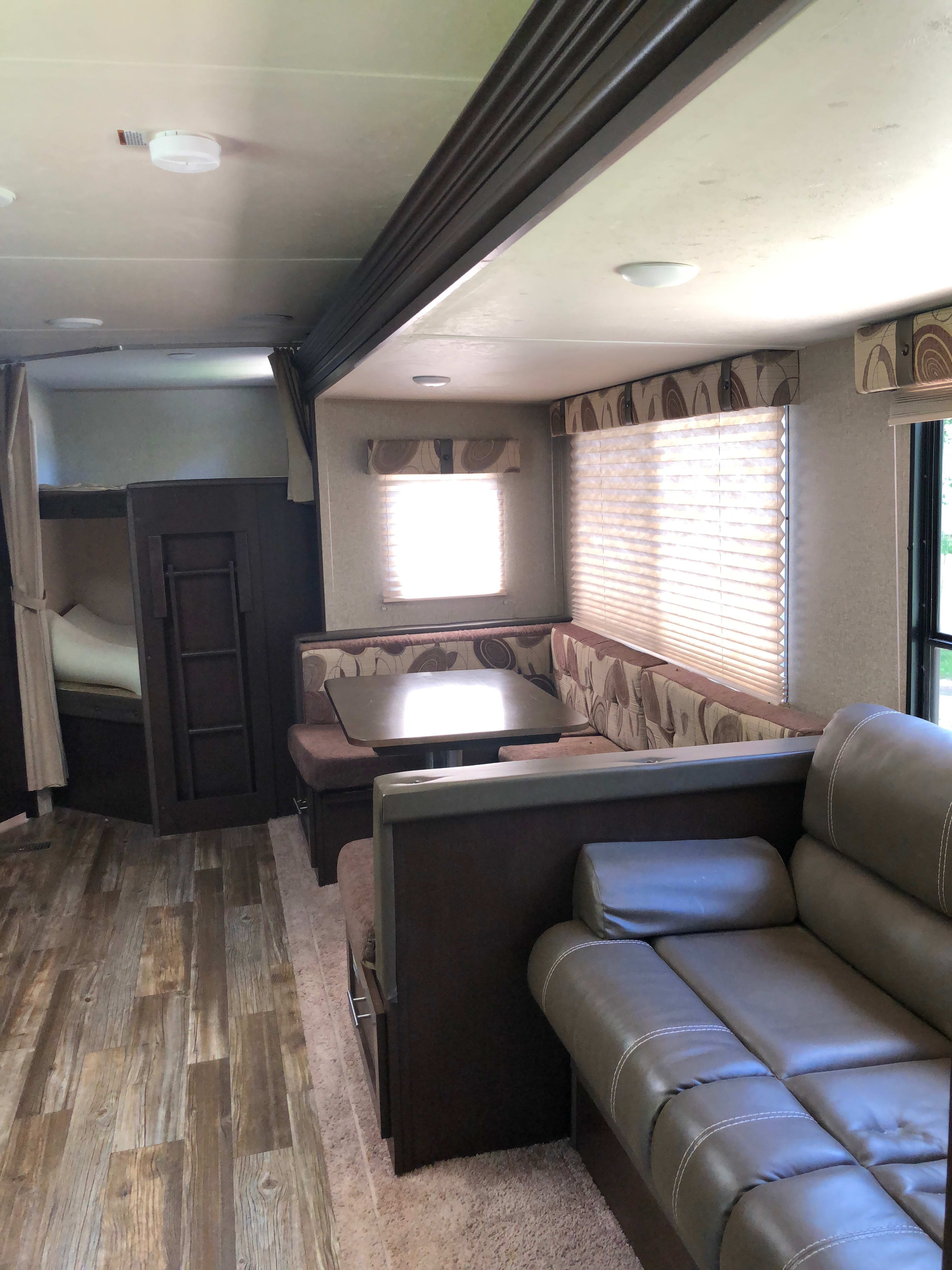 Spacious interior with slide. Forest River Cherokee 2016