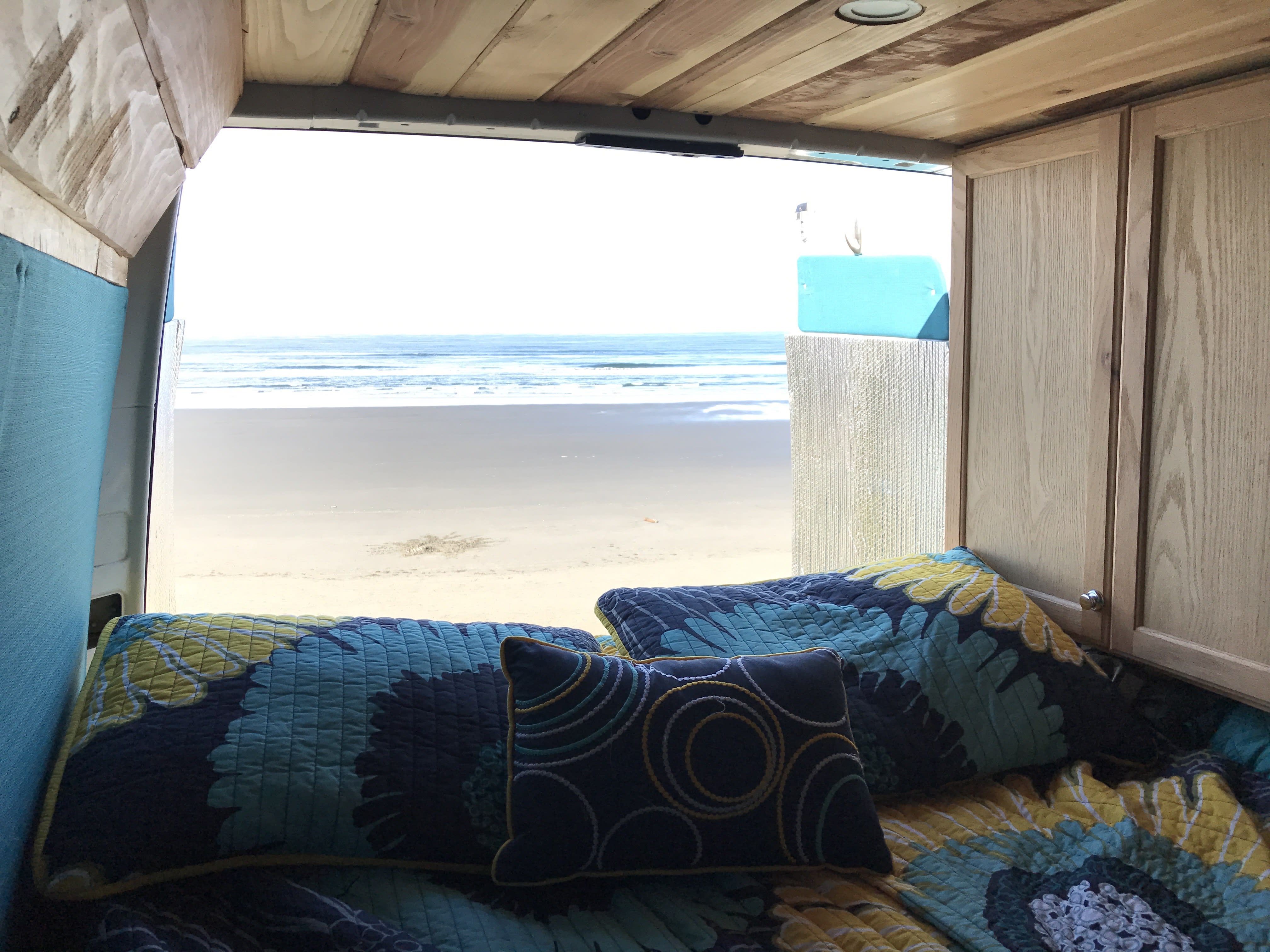 Room with a view, Kalaloch Campground, Olympic National Park, WA.. Dodge Sprinter Van 2005