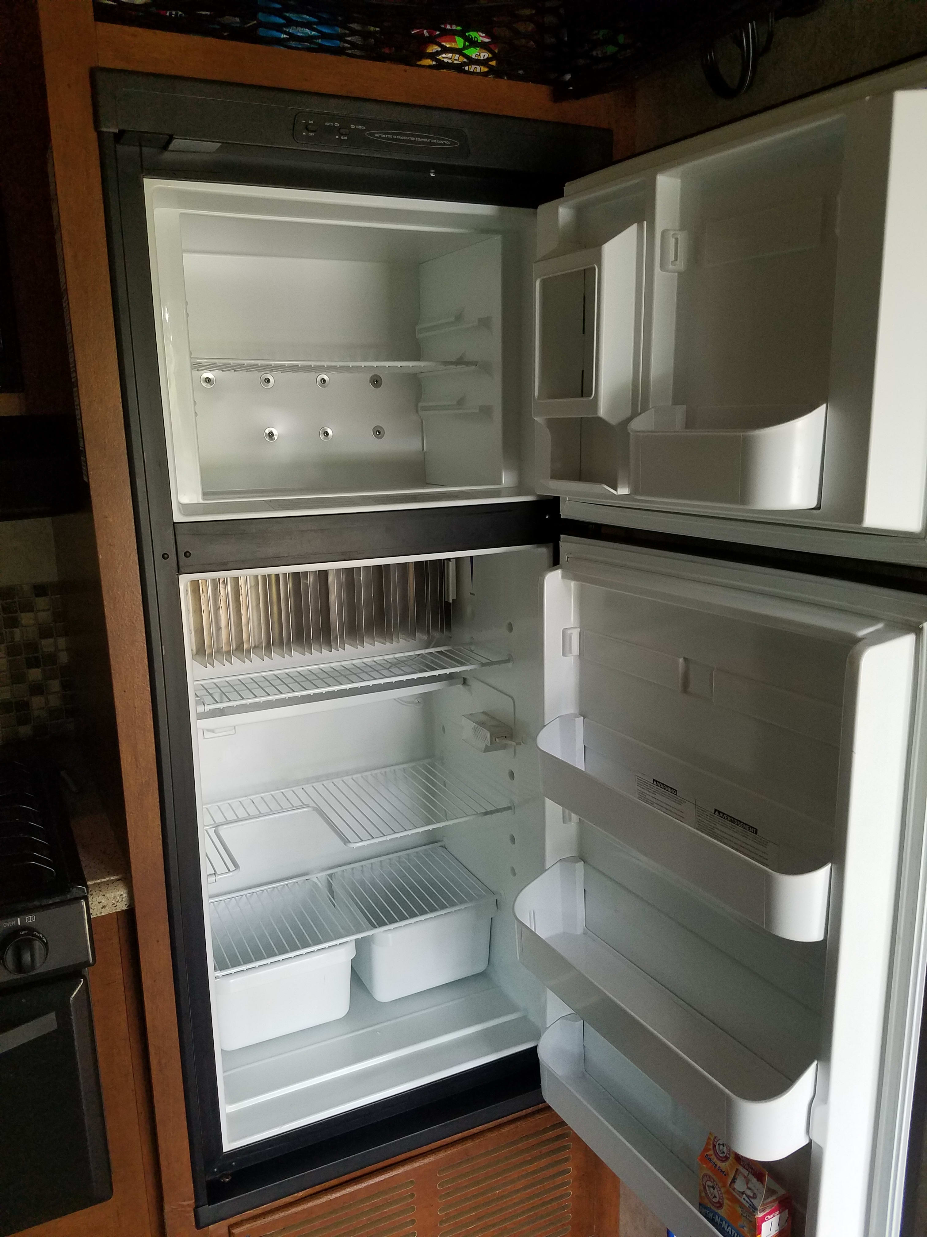 plenty of fridge space to keep food and drinks cold.. forest river nitro xlr 2013