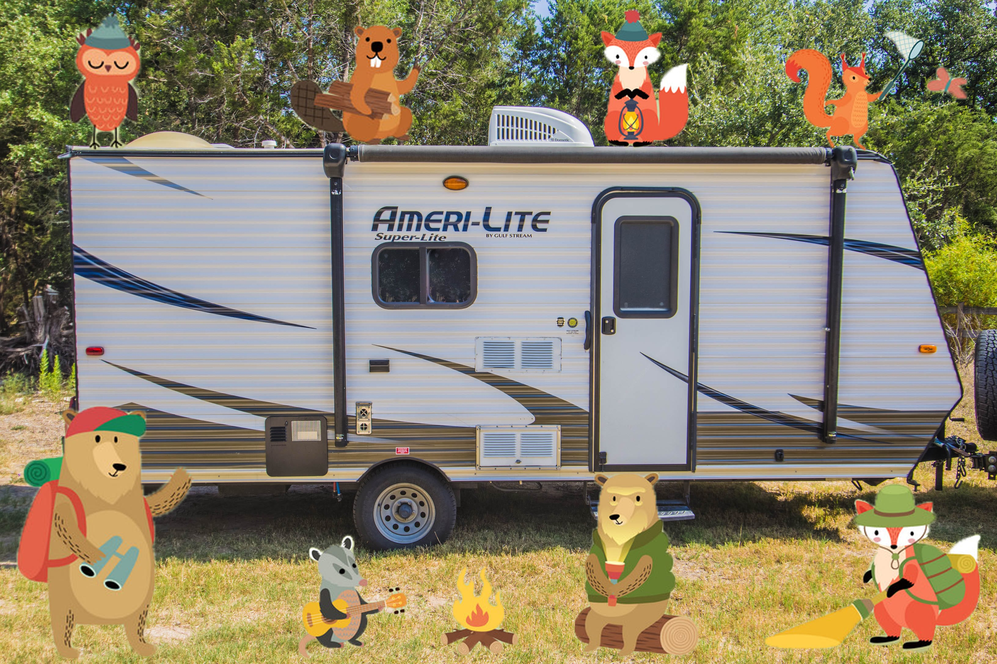 At only 21 feet long, you'll never be restricted at any RV park.. Gulf Stream Amerilite 2017