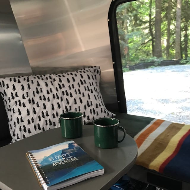 Screen on back hatch makes for great ventilation.. Airstream Base Camp 2018