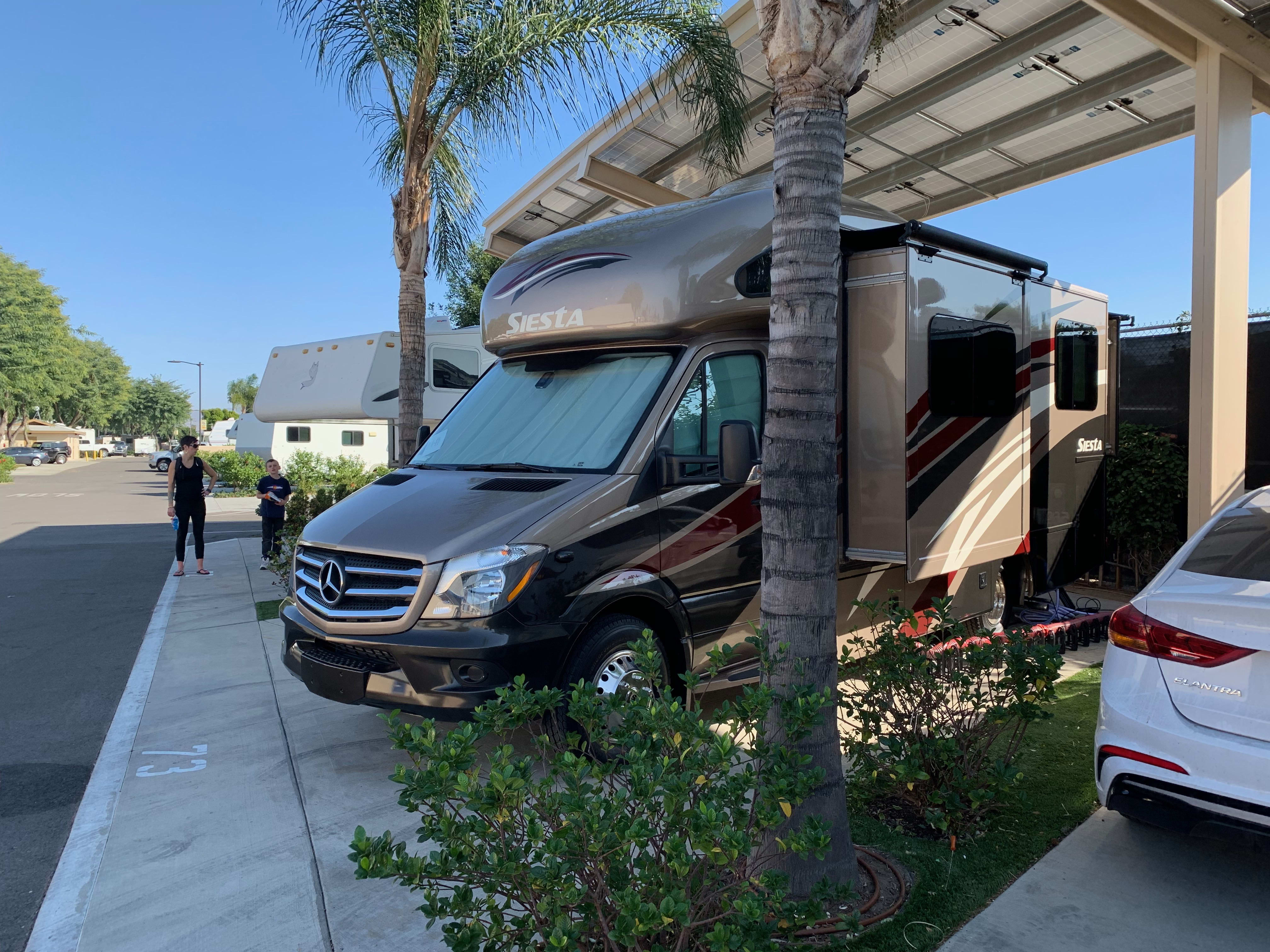 This could be you, all set up near Disneyland.. Thor Motor Coach Four Winds Siesta Sprinter 2018