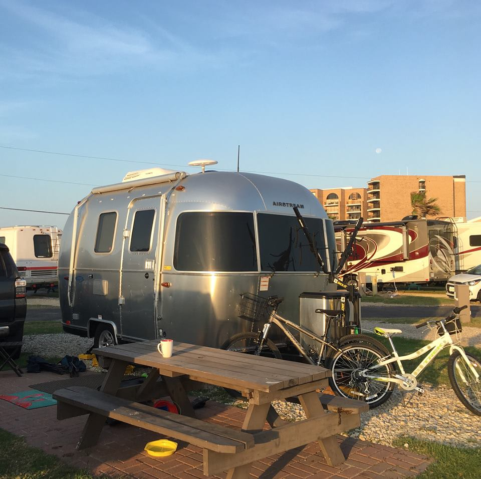 The Bambi at the beach.  . Airstream Sport 2018