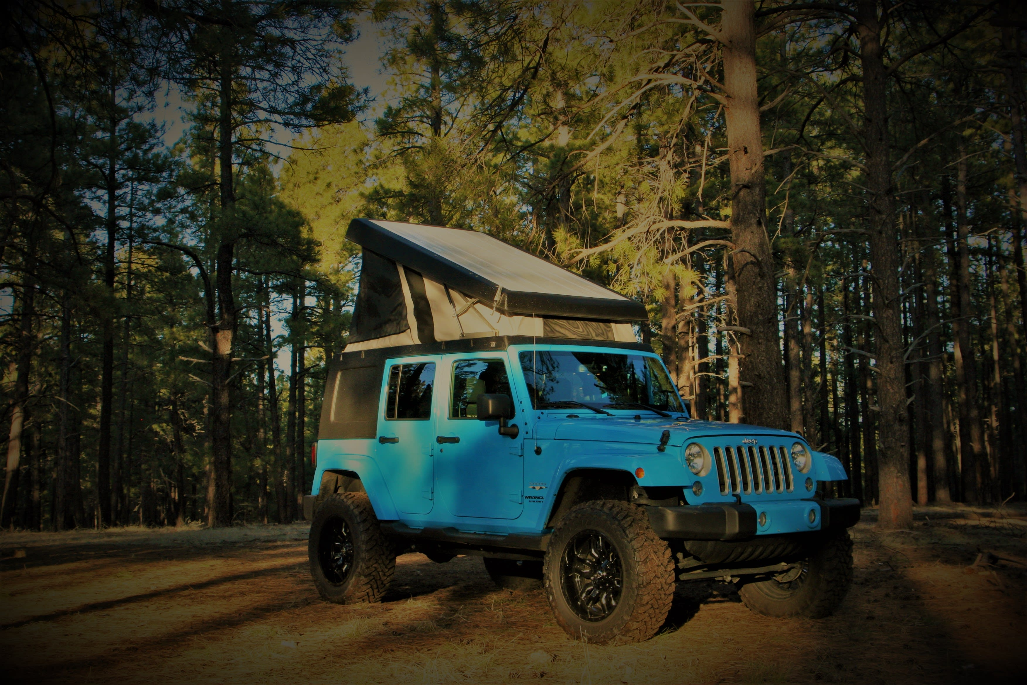 In the forest or the desert, you'll have everything you need!. Jeep Wrangler Unlimited Sahara 2017