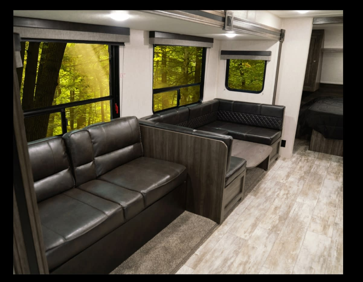 The couch and dining room table fold out to a beds. . Open Range Other 2019