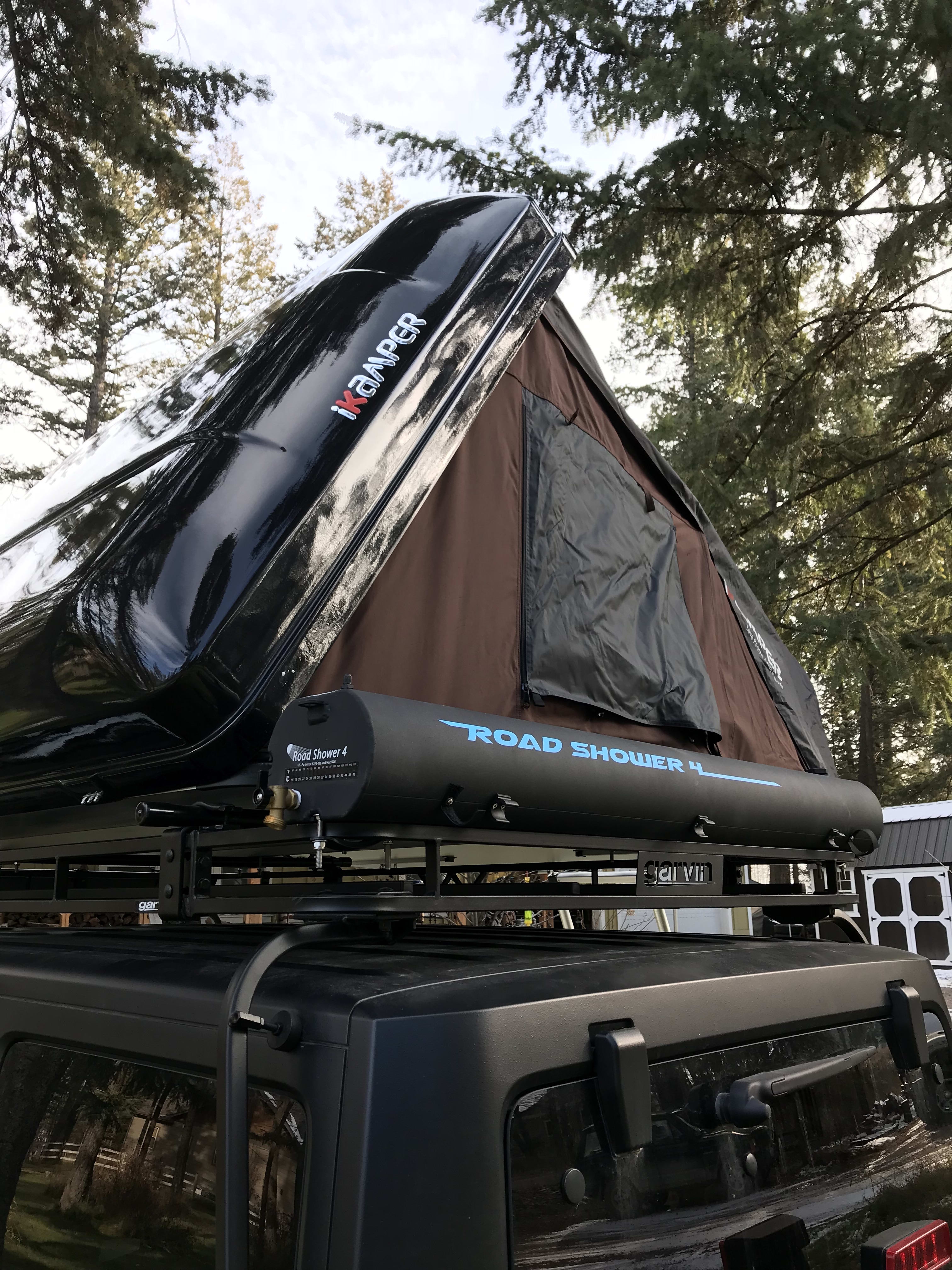 RoadShower solar showers can be added to packages (limited to July/August). Jeep JKU  4 door Jeep Rubicon 2017