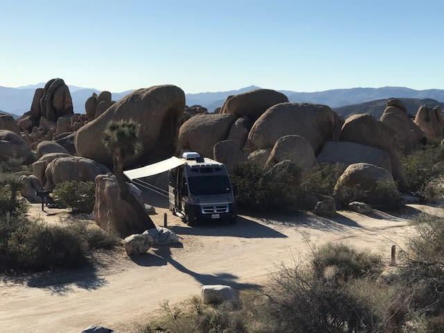 Birds eye view, Joshua Tree. Roadtrek Simplicity SRT 2018