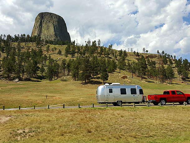 Devil's Tower, Wyoming. Airstream Sport 2017