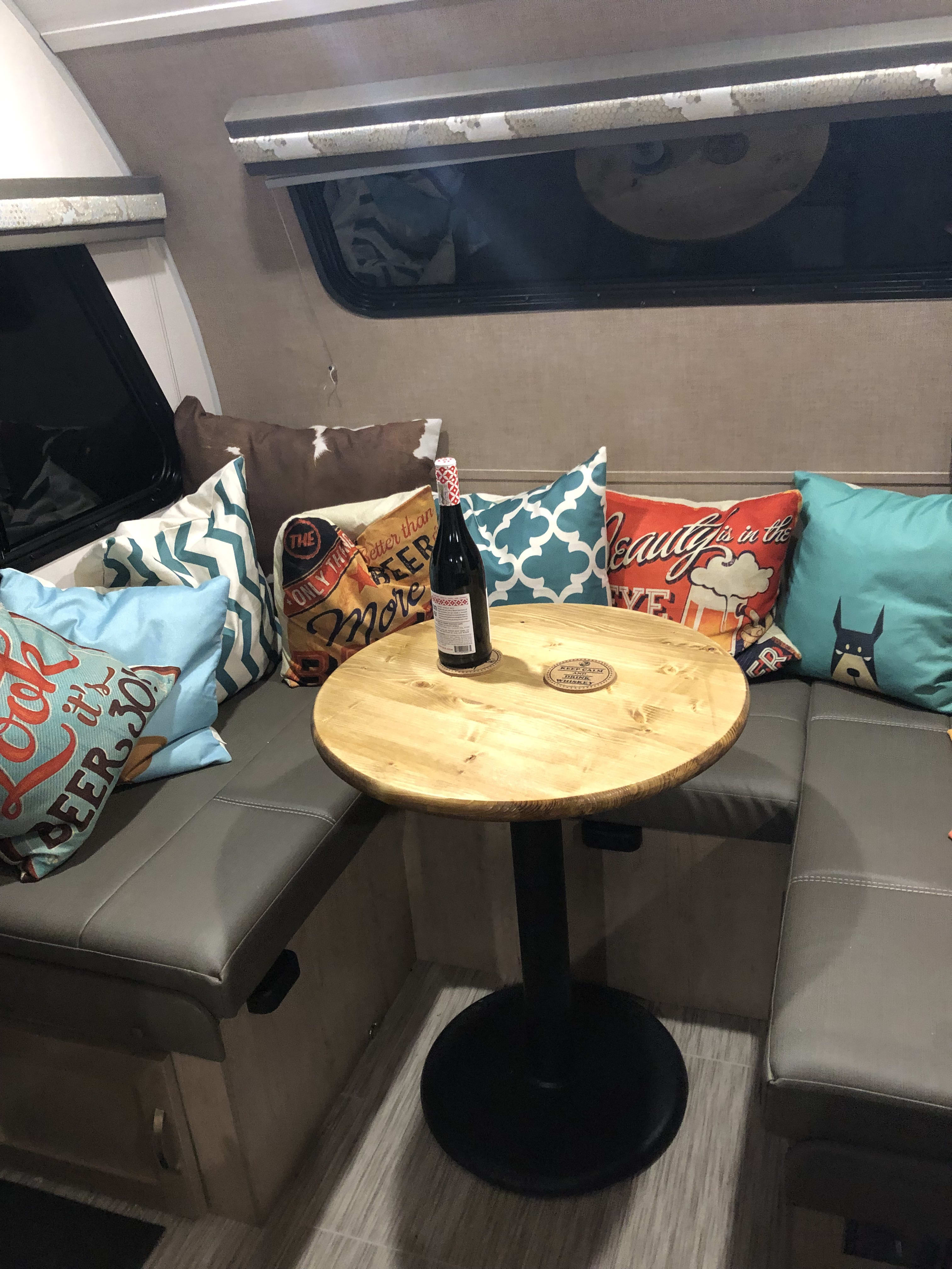 Comfortable dinette area for meals or lounging.. Forest River R-Pod 2019