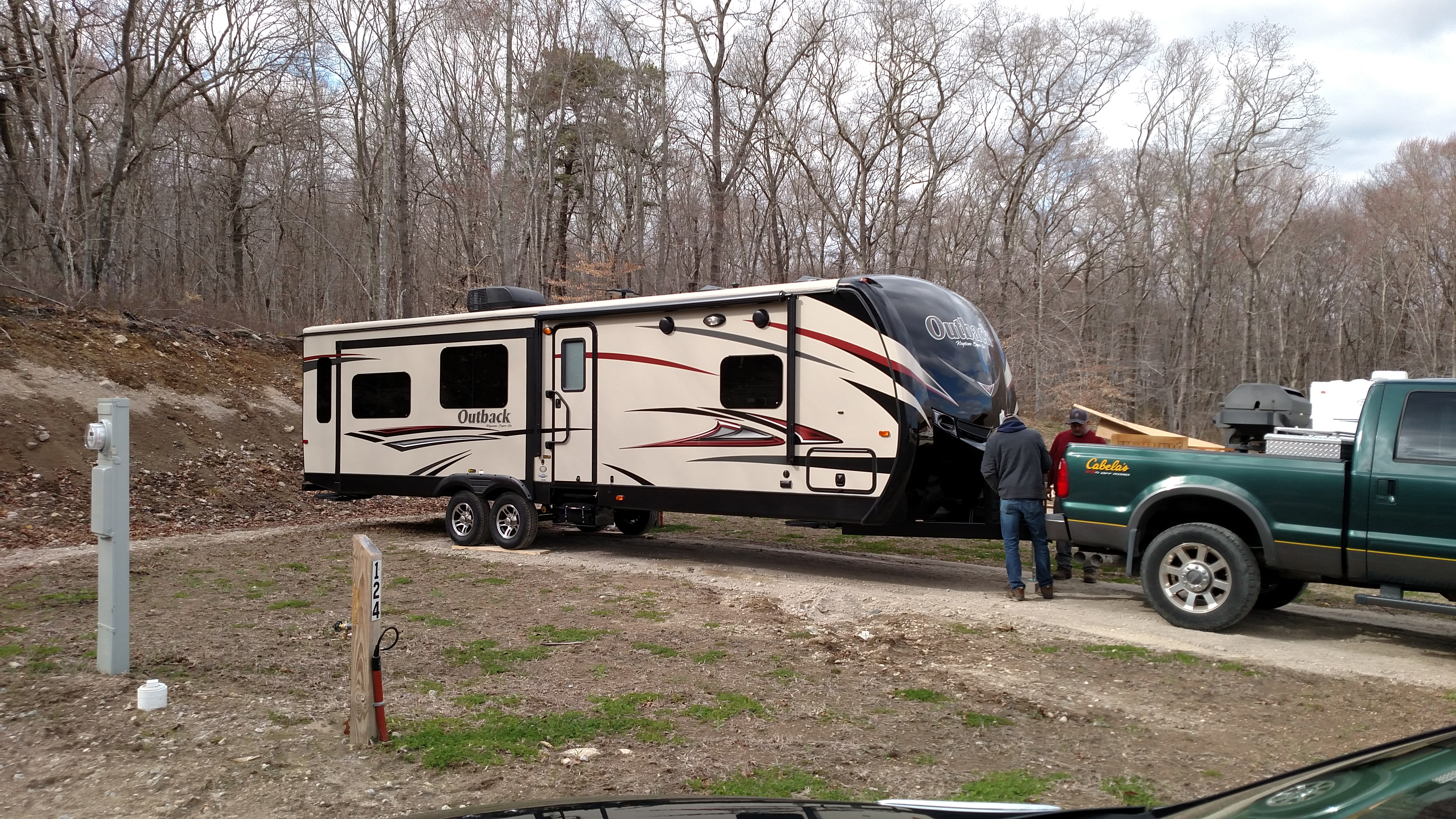 Camper with 3 slide outs makes it extera roomy!. Keystone Outback 2016