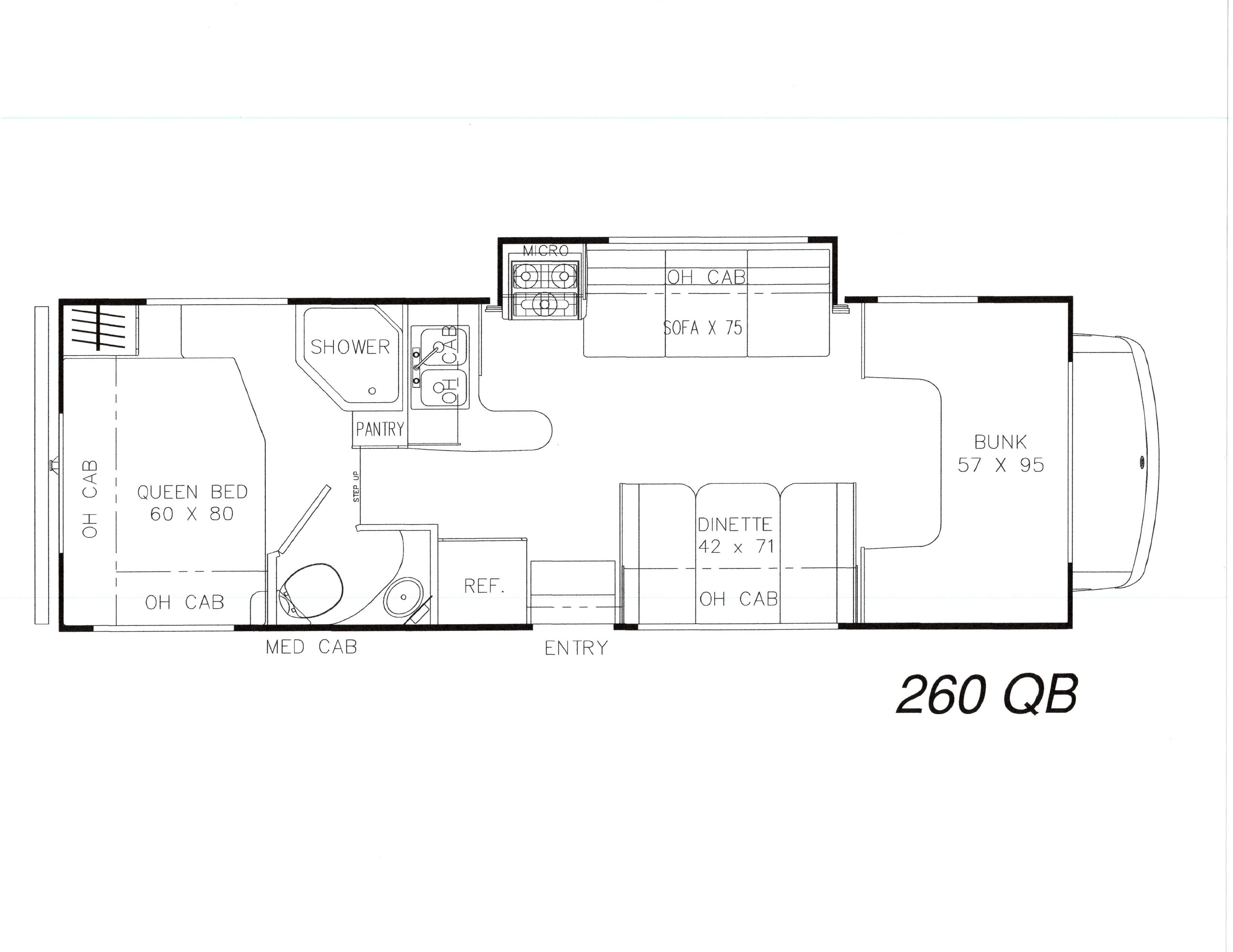 This floor plan will help you figure out the best sleeping arrangement for your family.. Coachmen Leprechaun 2015