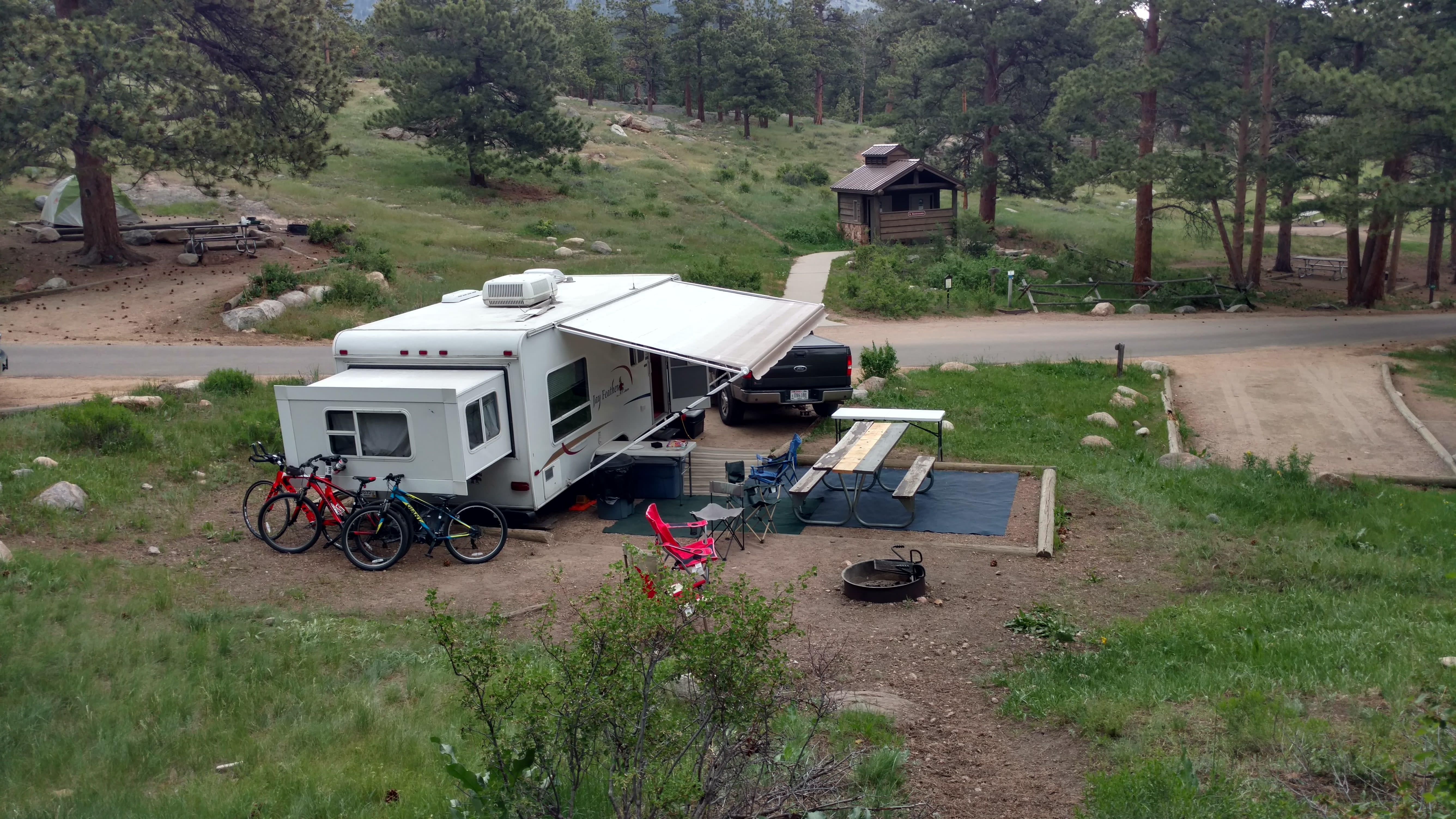 Camping in Rocky Mountain National Park. Jayco Jay Feather EXP 2007
