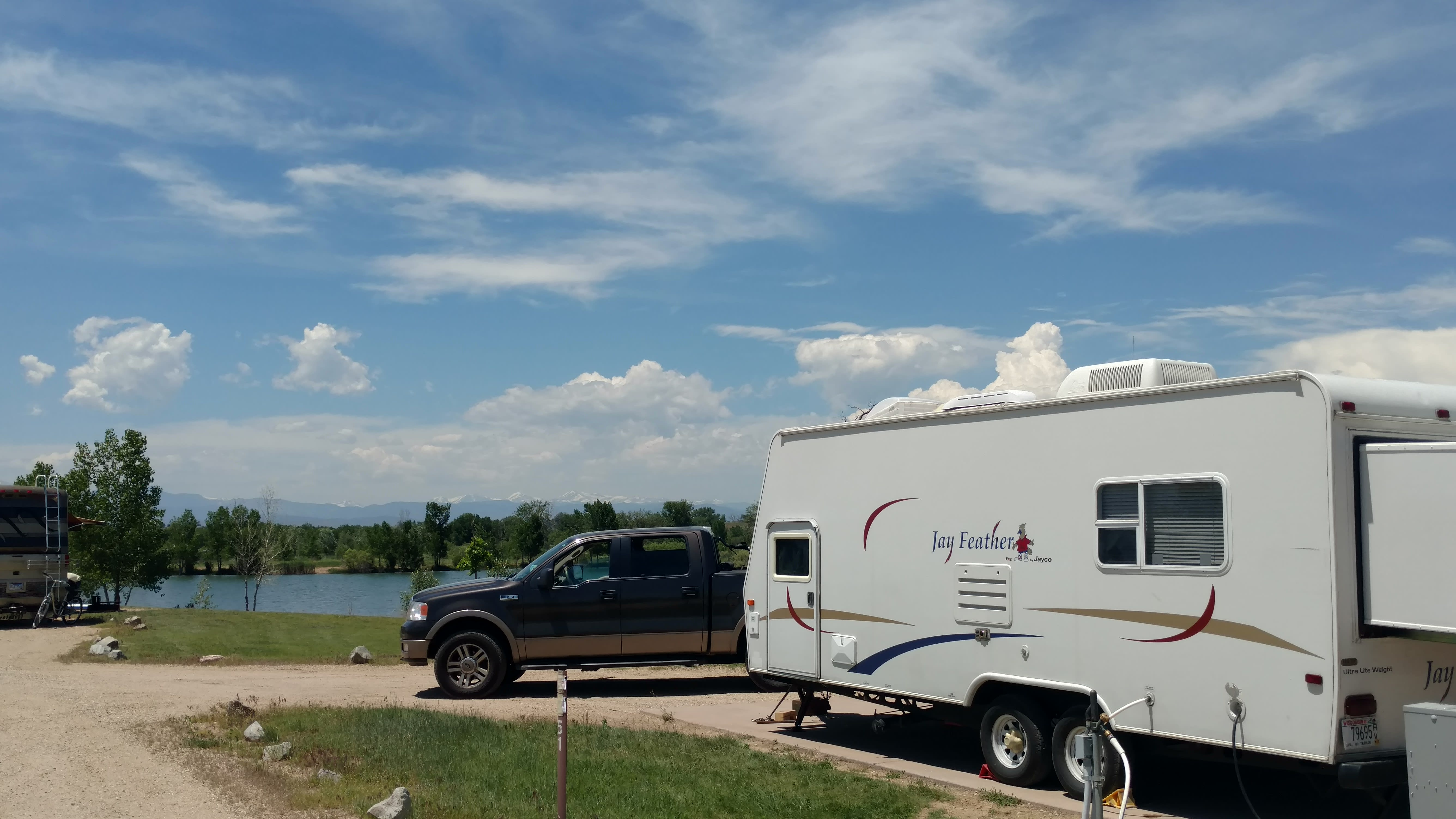 Camping in St. Vrain State Park, Colorado. Jayco Jay Feather EXP 2007