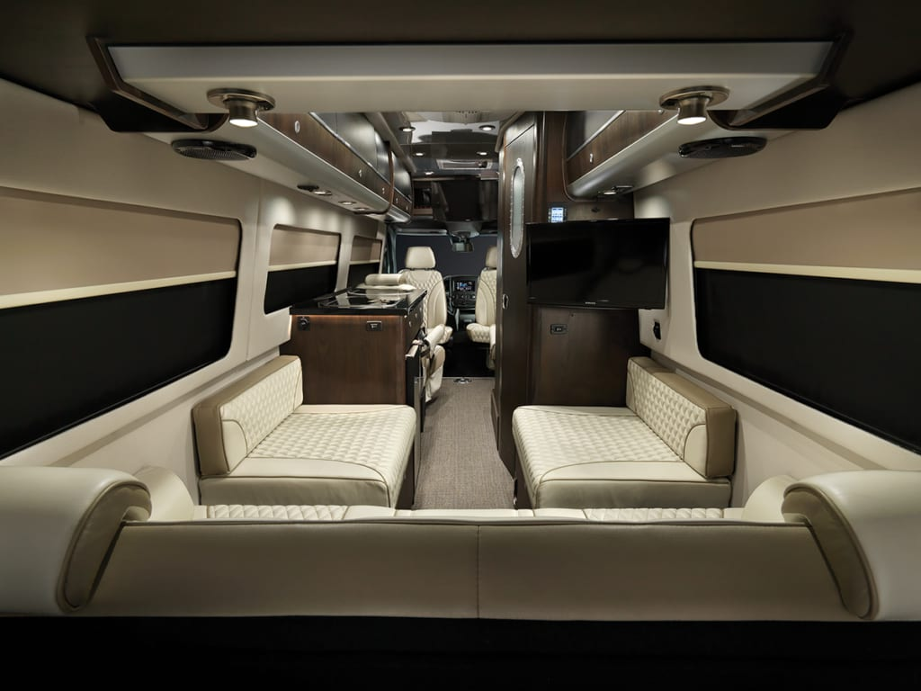 A view from the rear to the front.. Airstream Interstate Lounge Slate Edition 2019