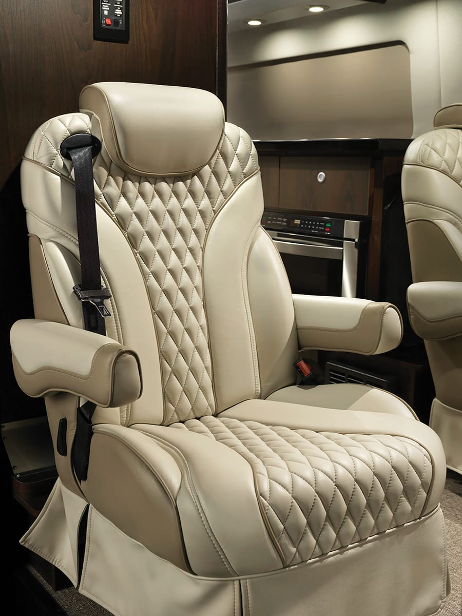 This interstate is a limited edition slate with very high end materials.  This is the Bentley of Class-B sprinter vans.. Airstream Interstate Lounge Slate Edition 2019