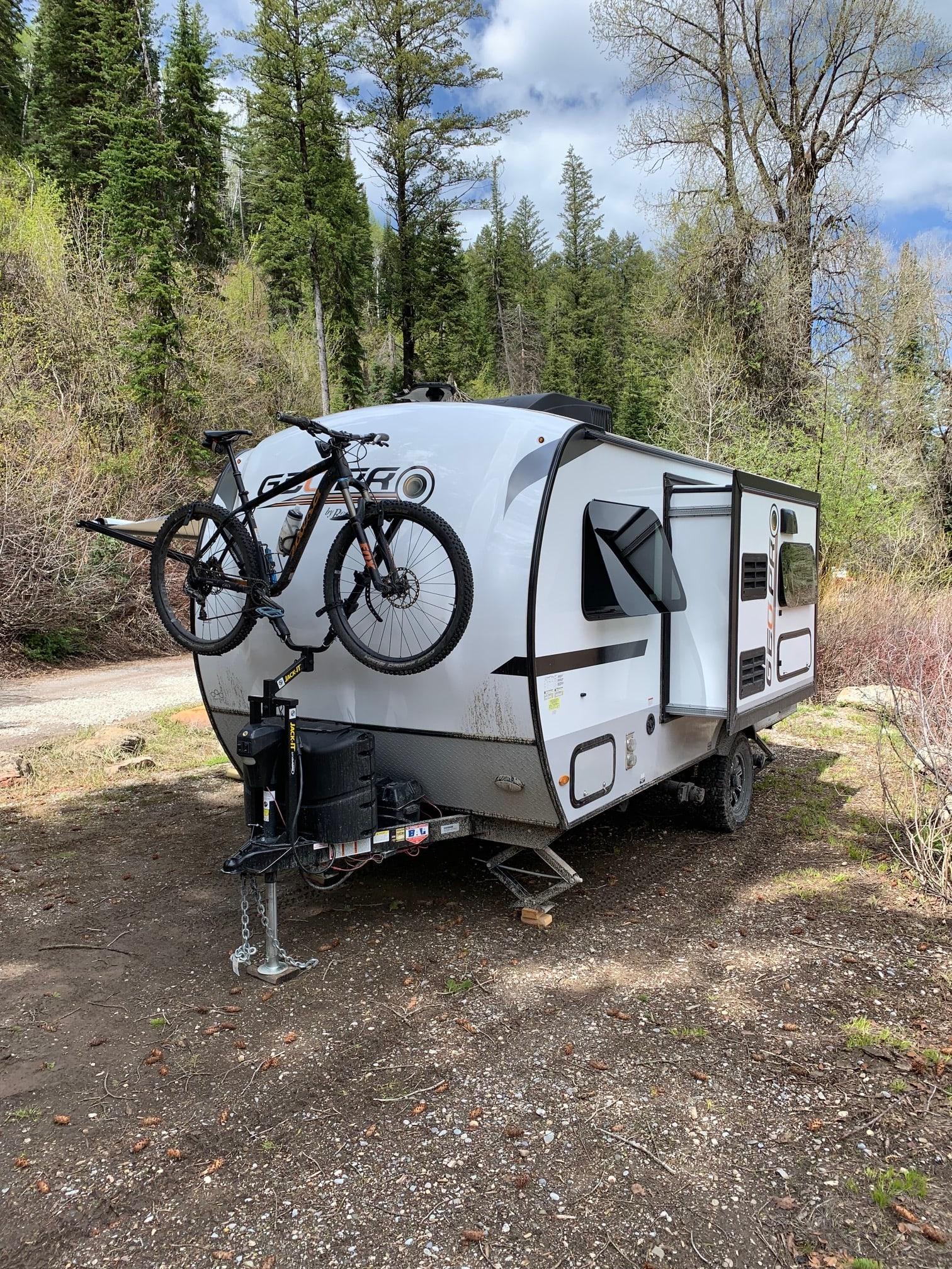 single bike rack. Forest River Rockwood 2019