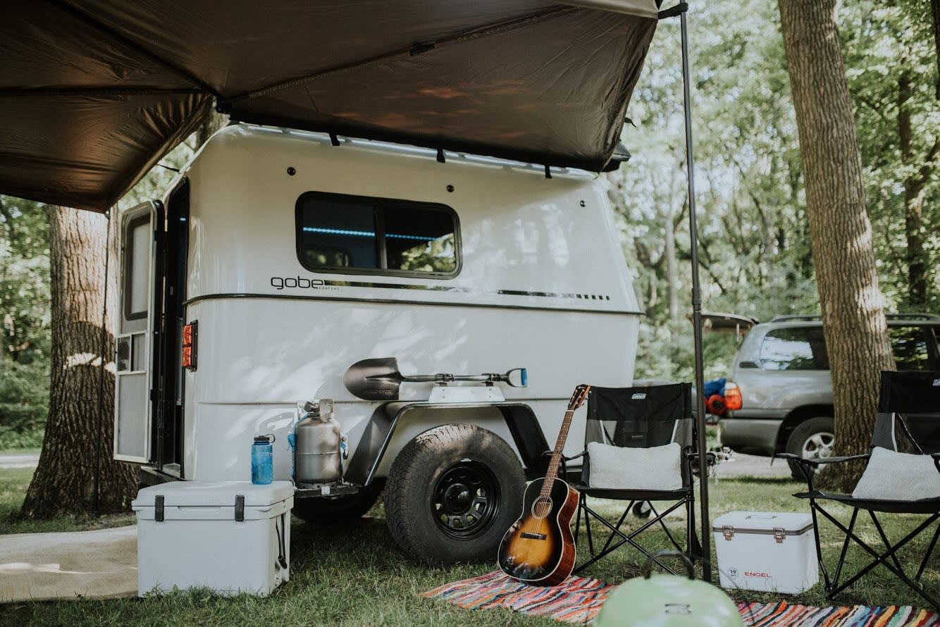The GoBE Nomad quickly transforms into a fully functional and fun campsite.. GoBE Nomad 2018