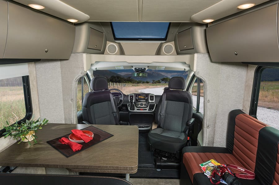 Great cabin space to cook, lounge or watch TV.. Winnebago Trend 2014