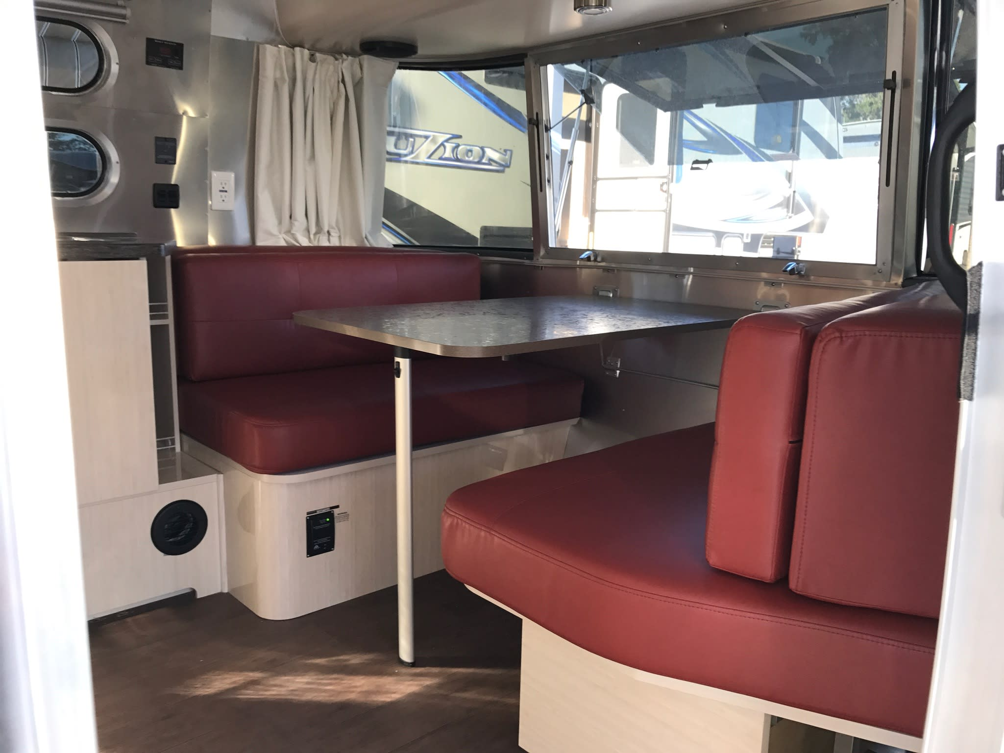 Dining Area - Converts to Bed. Airstream Interstate 2017