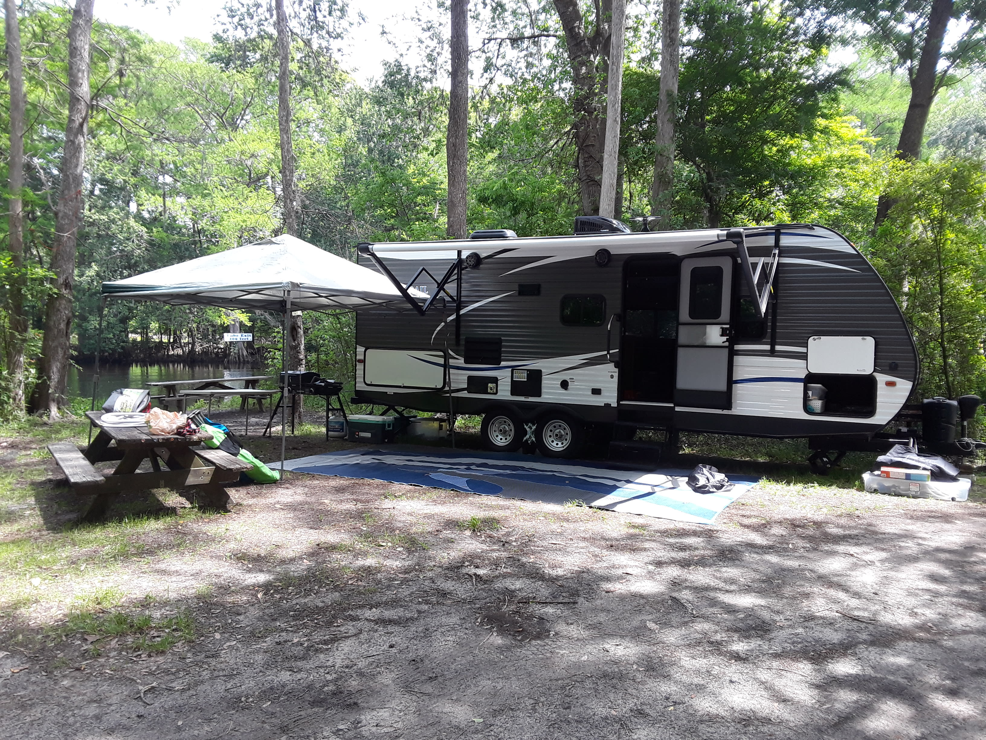 Our full set-up at our favorite location!. Dutchmen Aspen Trail 2340BHS 2018