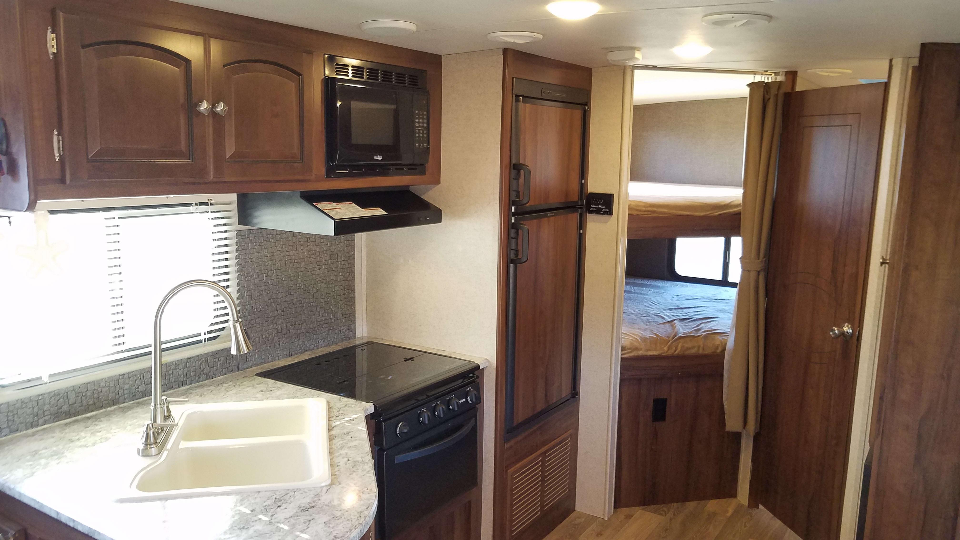 Kitchen and Bunks. Heartland Northtrail 2016