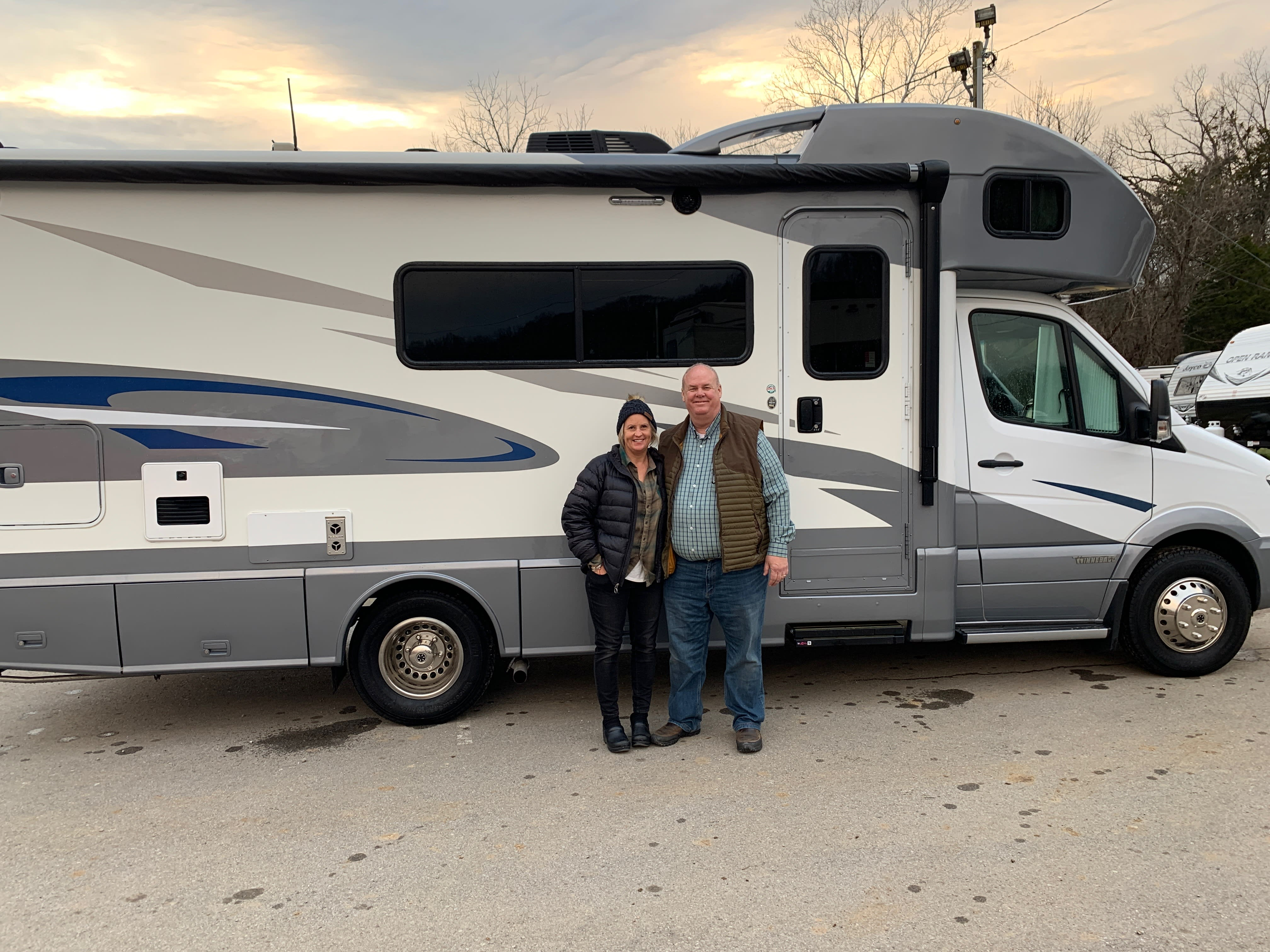 The day we purchased the RV in December 2019.. Winnebago View 2018
