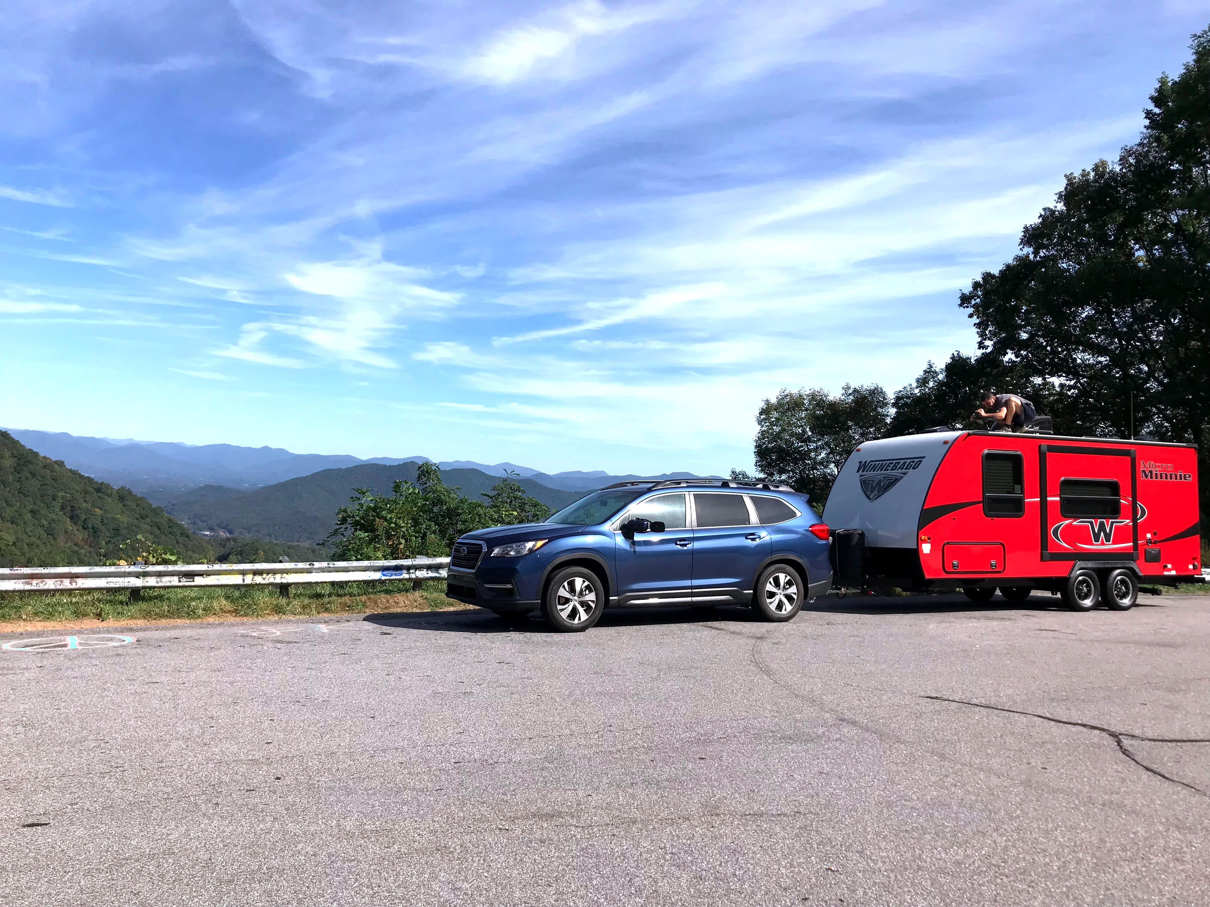 Exploring Blue Ridge Parkway. Winnebago Micro Minnie 2018