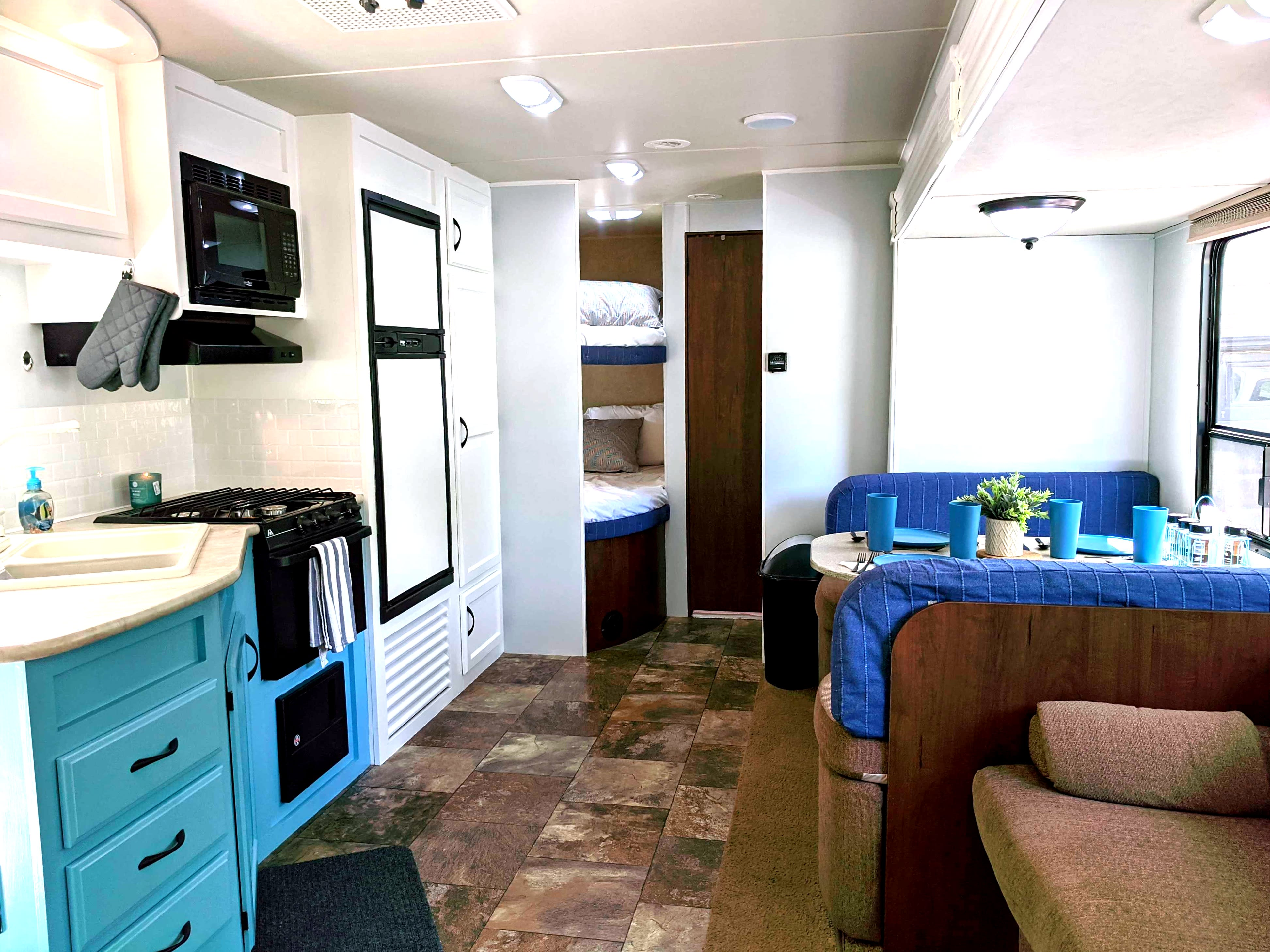 Notice how open and bright the camper feels!. Jayco Camper Trailer- Swift 2014