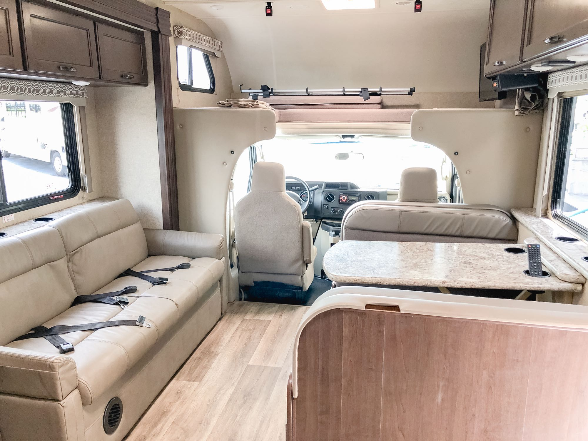 Above cab sleeping space - Full Size Bed. Thor Motor Coach Four Winds 2019