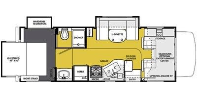 RV - layout of the Forest River Sunseeker. Forest River Sunseeker 2014