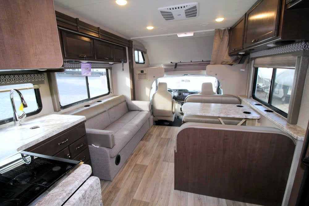 main cabin looking forward. Thor Motor Coach Freedom Elite 30FE 2020