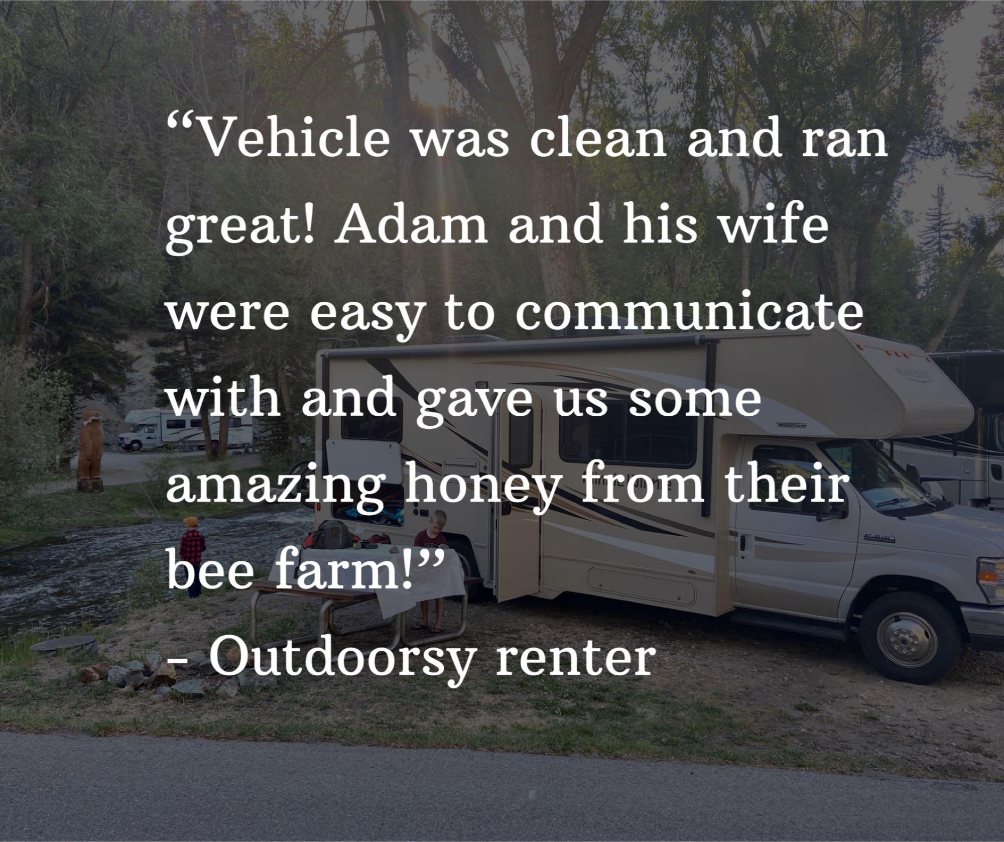 Recent review from a renter. Winnebago Minnie Winnie 2018