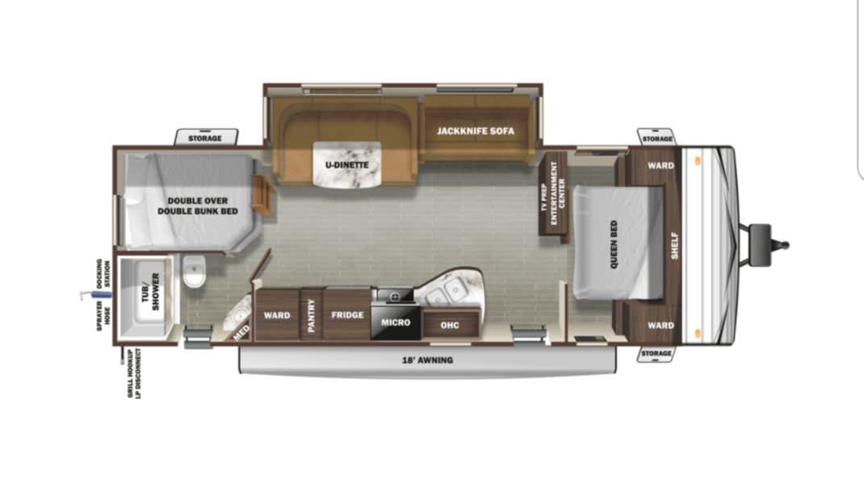 Floorplan of our BIG Bertha!. Starcraft Autumn Ridge 2020