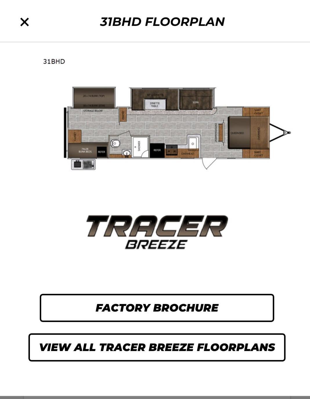 Floor Plan. Prime Time Tracer 2020