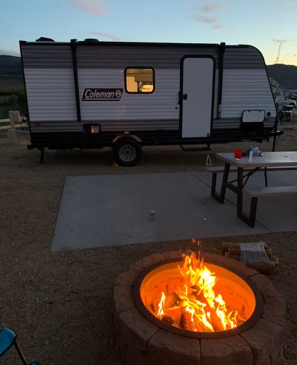 There is nothing better than a campfire under the stars!. Coleman 17 Bunkhouse 2021