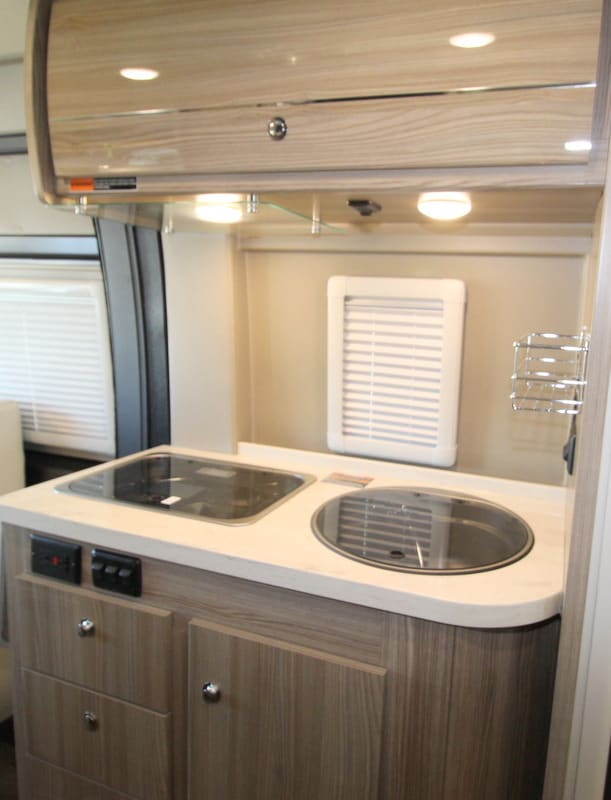 Kitchen. Winnebago Travato 2020