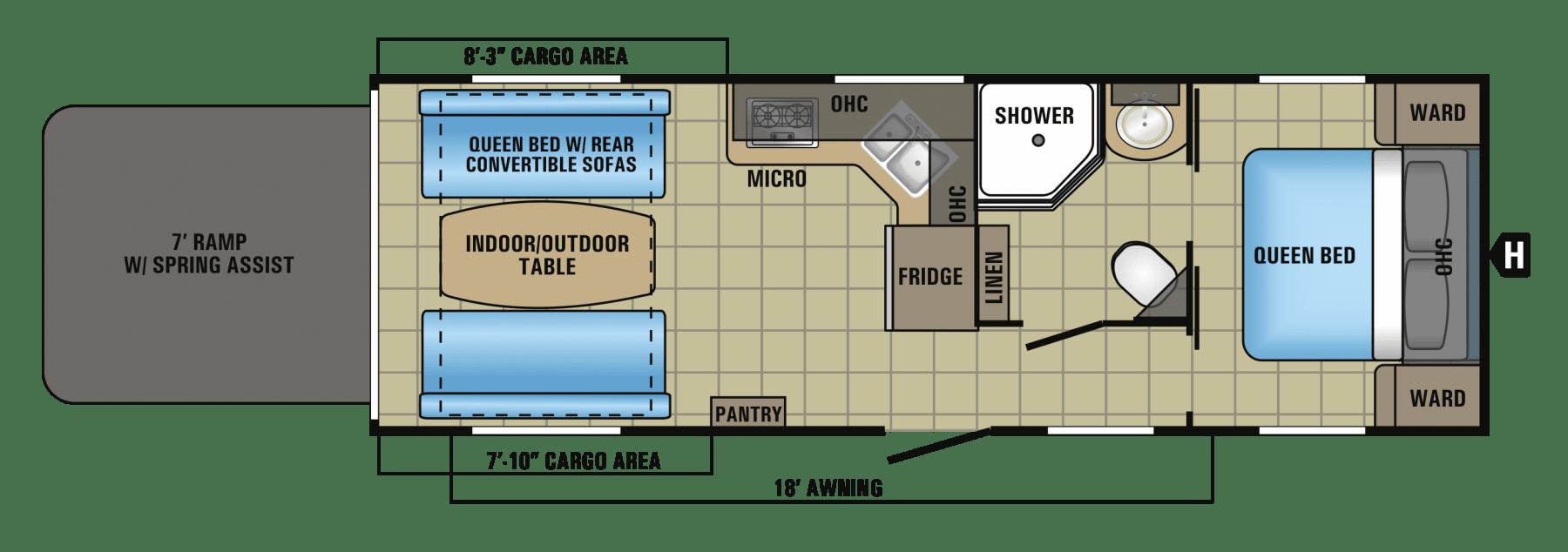 Floor plan. Jayco Octane 2017