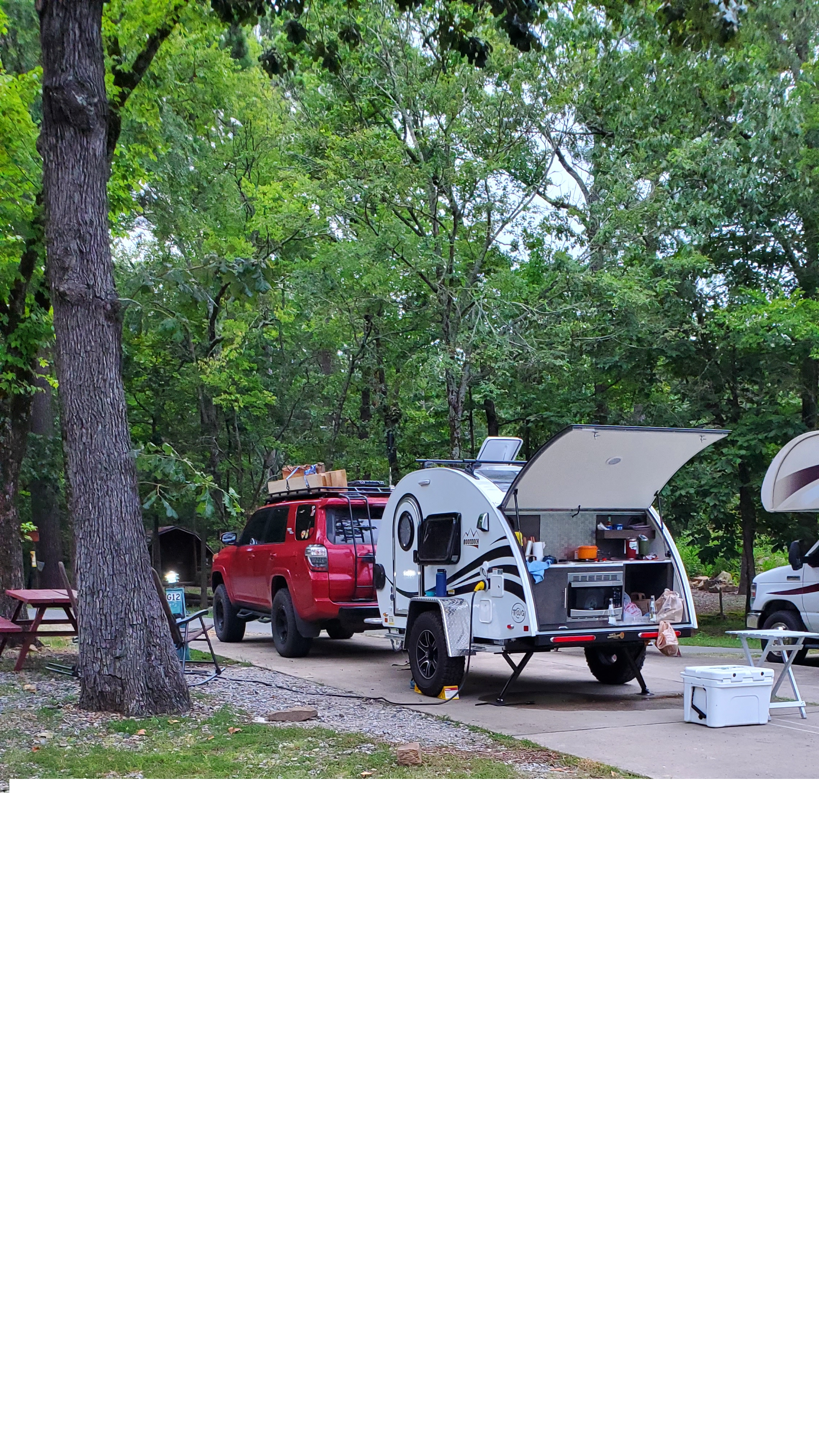 We drove to TN and stayed at KOA's along the way from AZ. T@B Other 2021