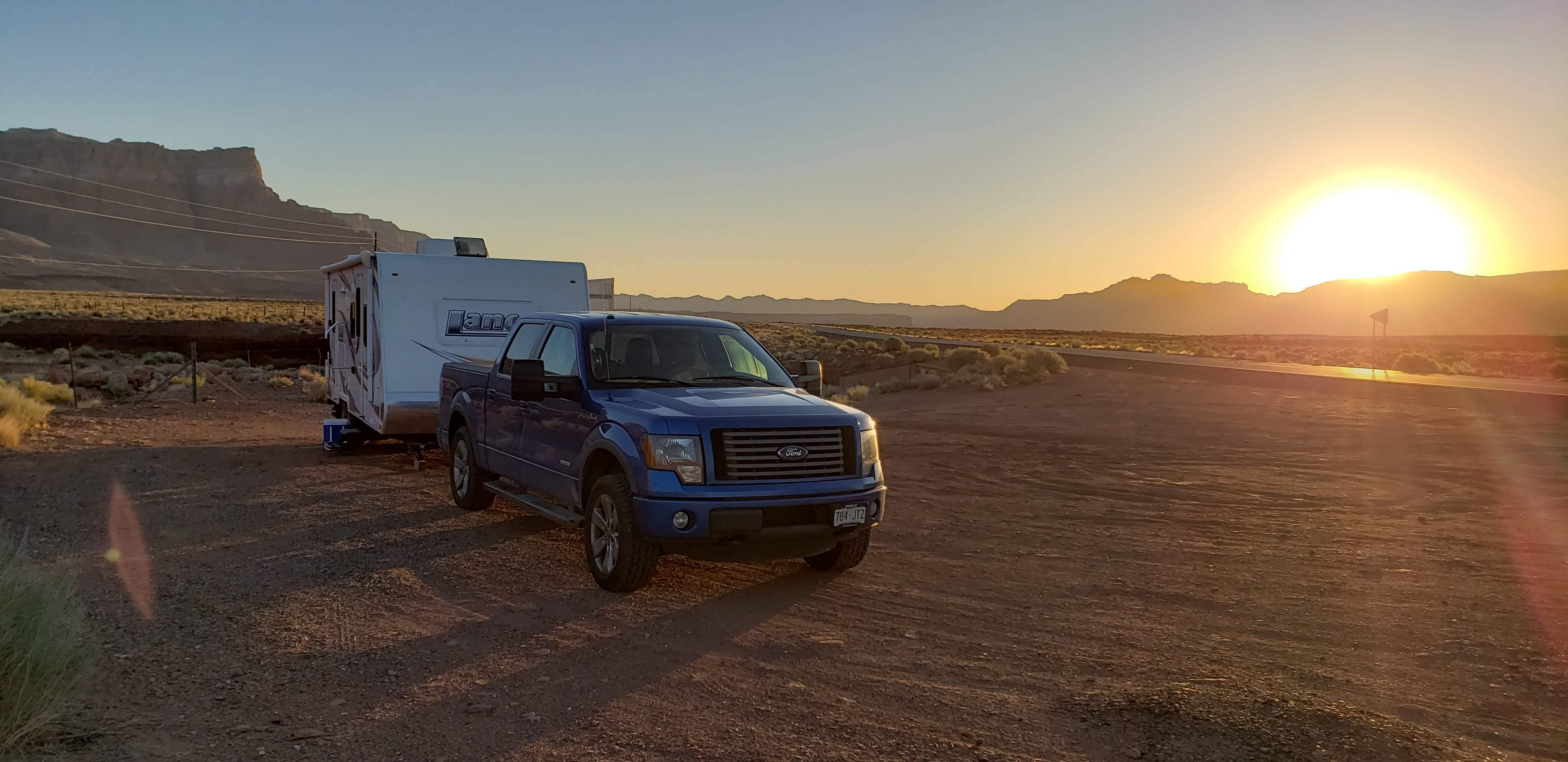 Dry camping in AZ. Lance 2185 2014